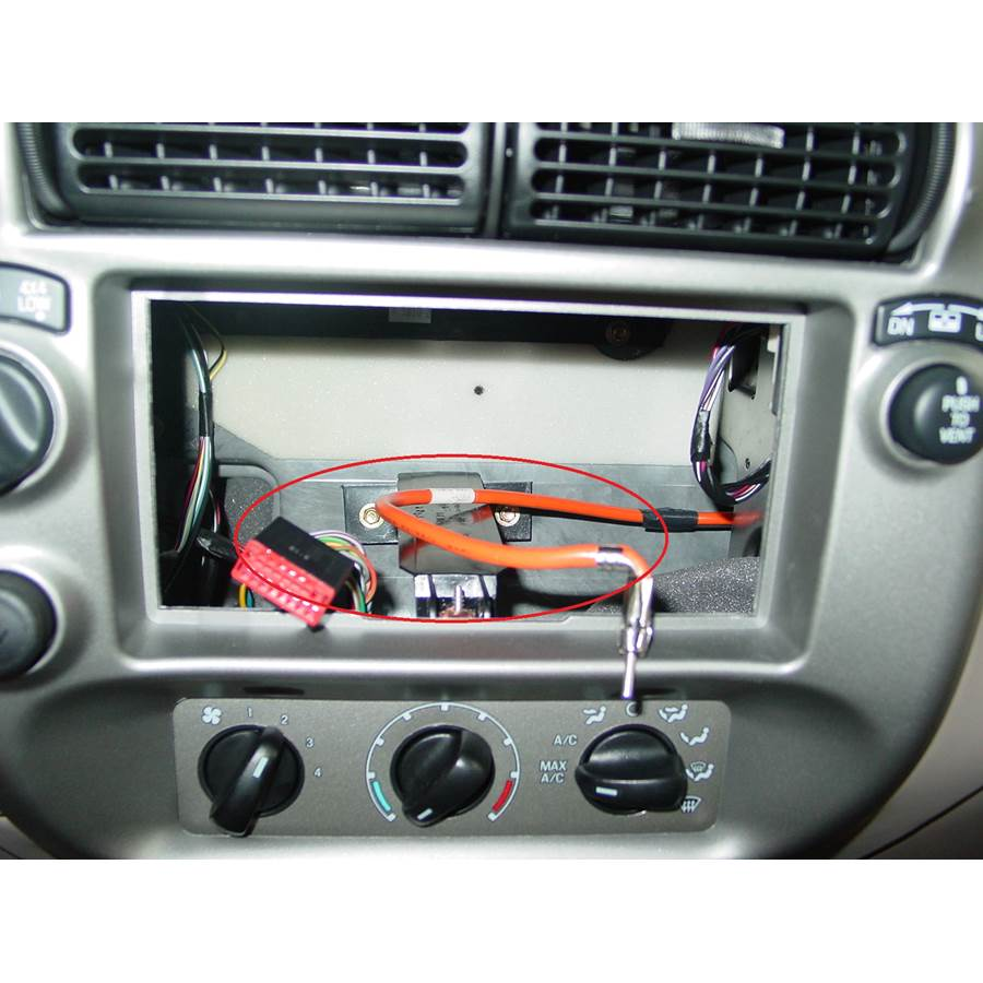 2004 Ford Explorer Sport Trac You'll have to modify your vehicle's sub-dash to install a new car stereo.