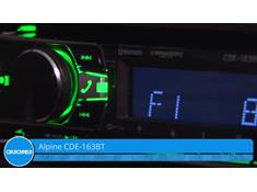 Demo of the Alpine CDE-163BT CD receiver