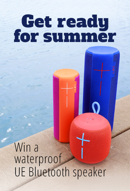 Get ready for summer Win a waterproof UE Bluetooth speaker