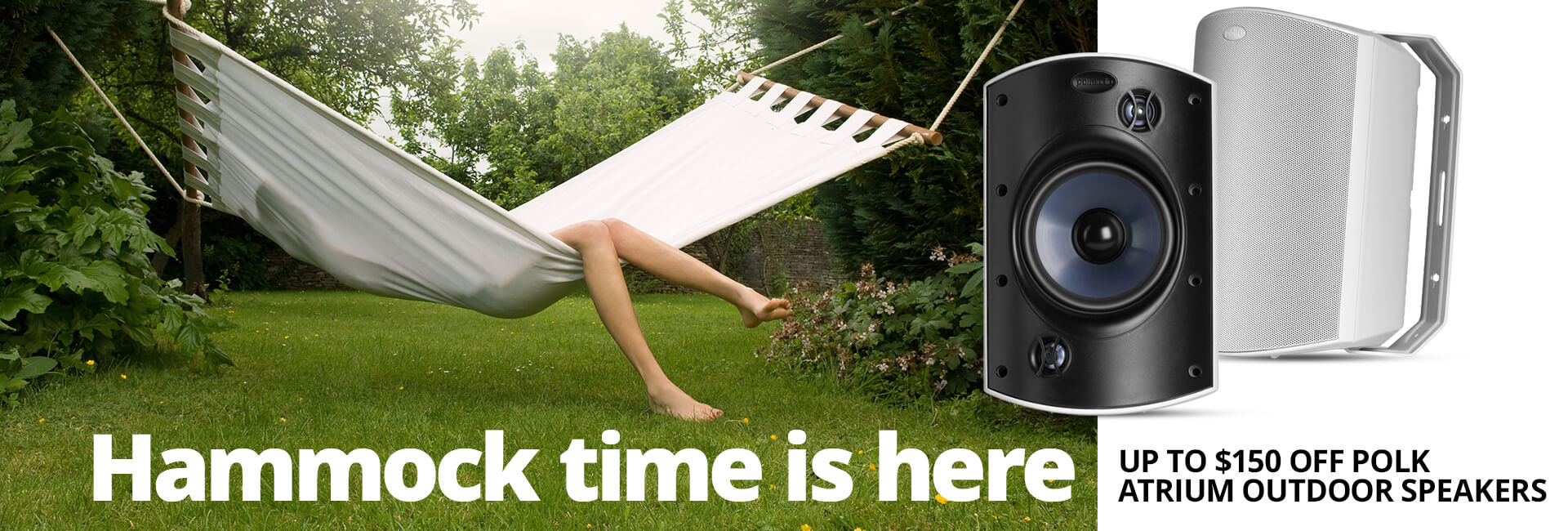 Save up to $150 on Polk Atrium outdoor speakersEnds 5/6