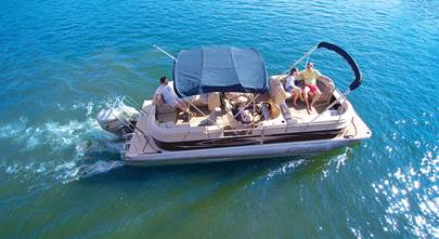 Installing a stereo system on a pontoon boat