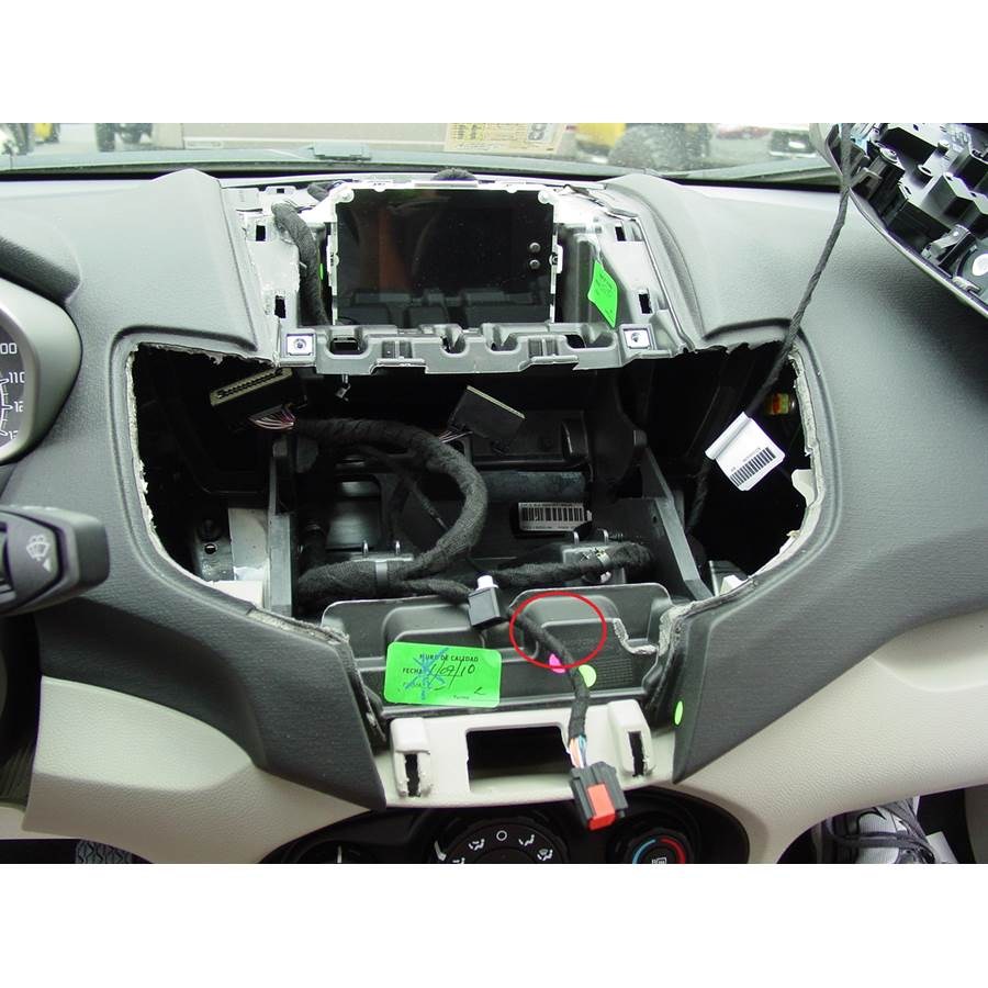 2012 Ford Fiesta You'll have to modify your vehicle's sub-dash to install a new car stereo.