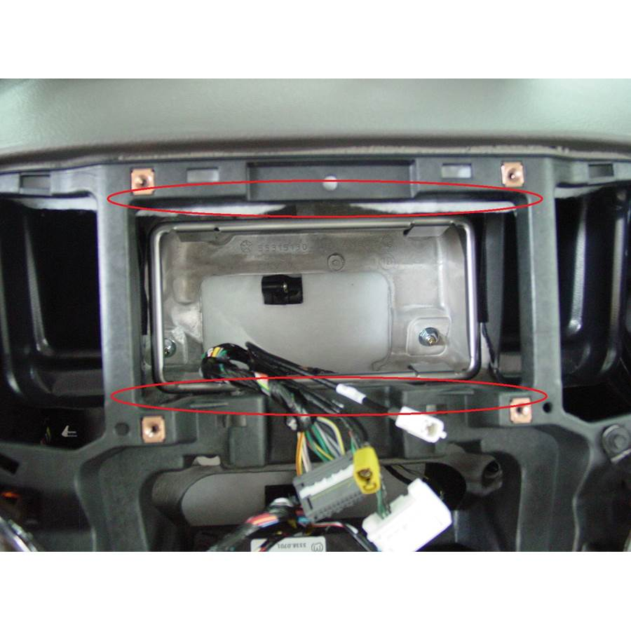 2011 Dodge Durango You'll have to modify your vehicle's sub-dash to install a new car stereo.