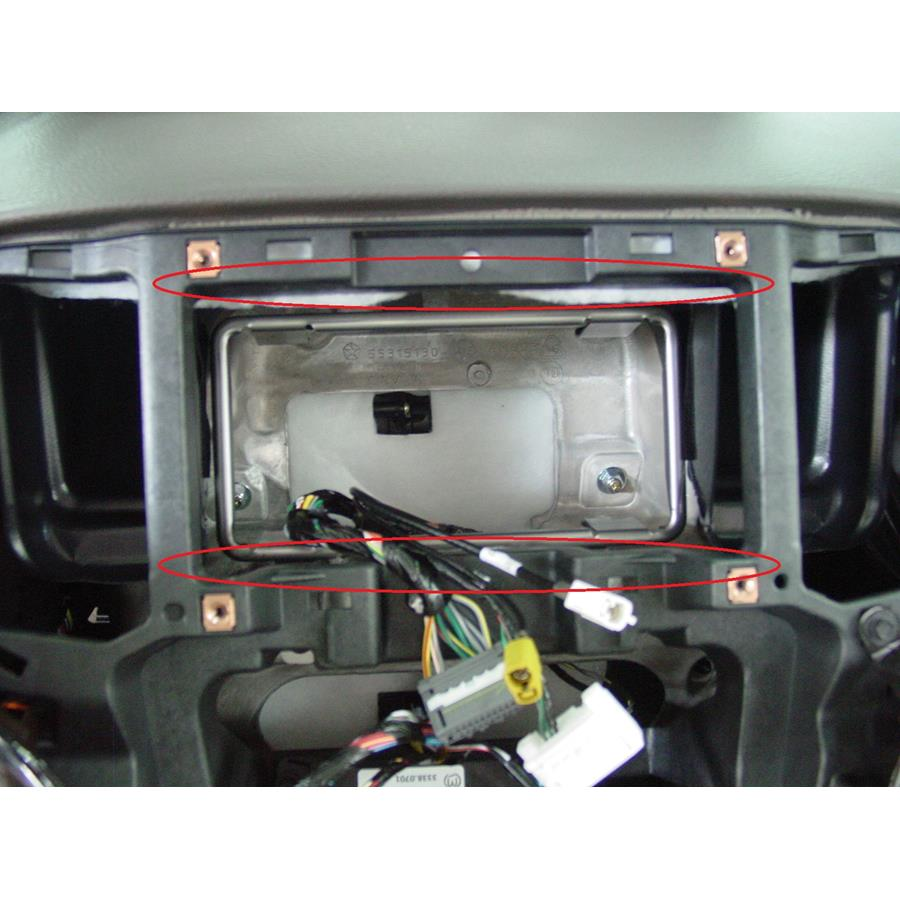 2012 Jeep Grand Cherokee You'll have to modify your vehicle's sub-dash to install a new car stereo.