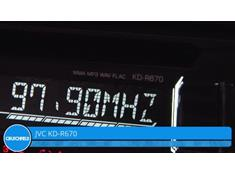 Demo of the JVC KD-R670 CD receiver