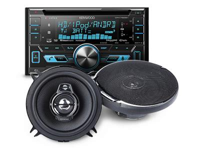 Kenwood combo deal:Save $50 when you buy a car stereo and 2 sets of speakers — Ends 7/1