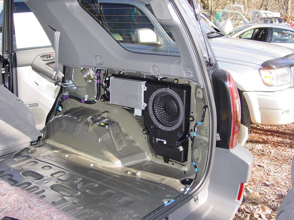 toyota 4runner rear subwoofer