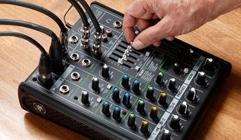Setting up a powered-speaker PA system