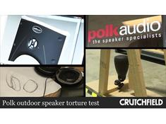 Video: Polk outdoor speaker torture test