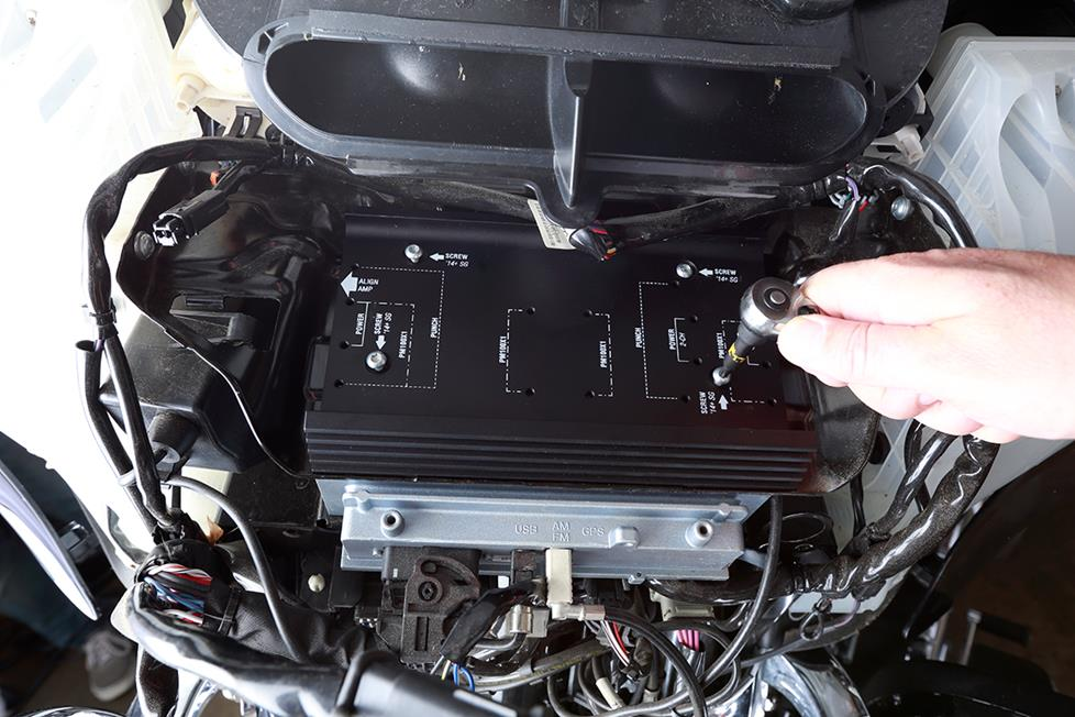 Awesome Audio for a Harley-Davidson Ultra Glide — Installing