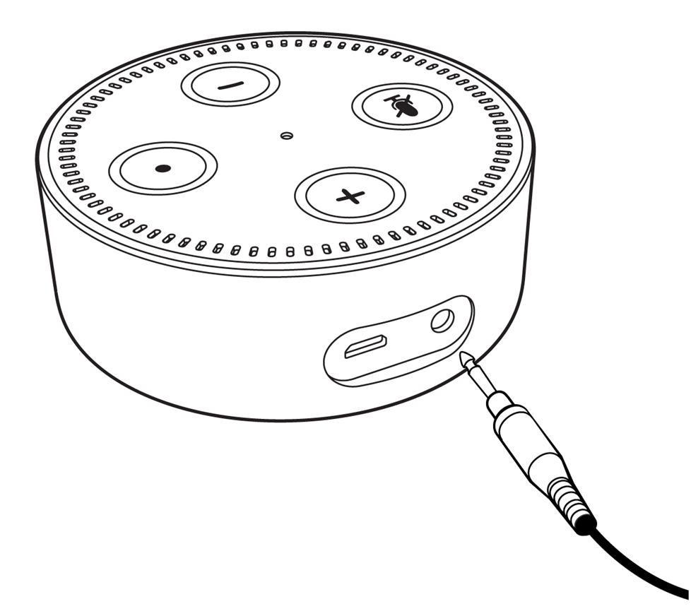 Illustration of Eco Dot audio output jack