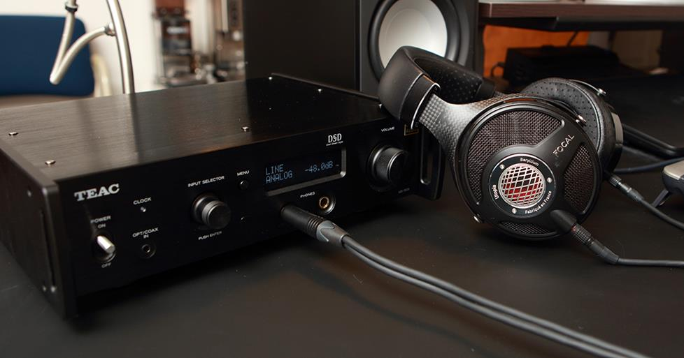 Teac headphone amp and Focal Utopia headphones