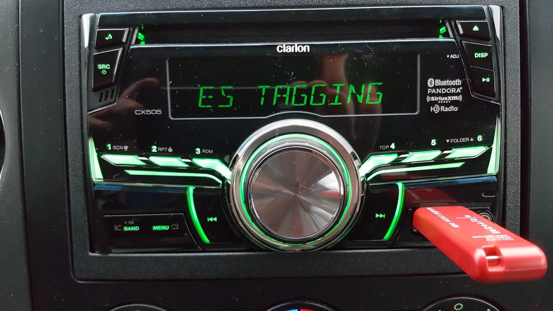 Clarion CX505 CD receiver at Crutchfield
