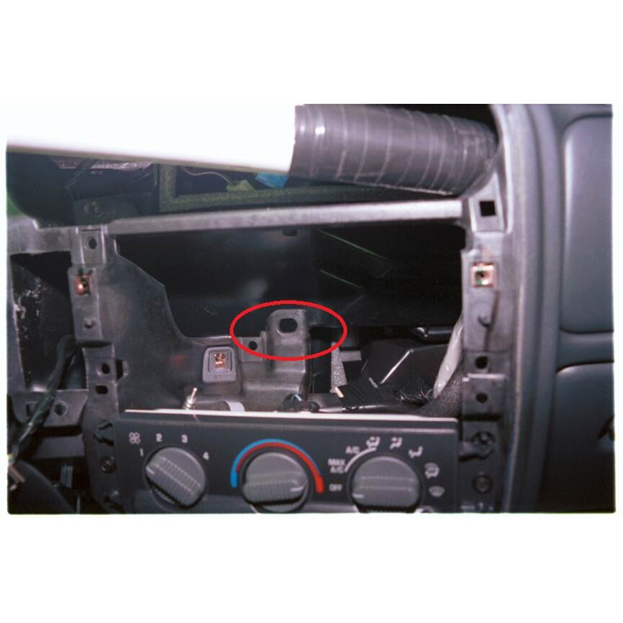 1998 Isuzu Hombre You'll have to modify your vehicle's sub-dash to install a new car stereo.