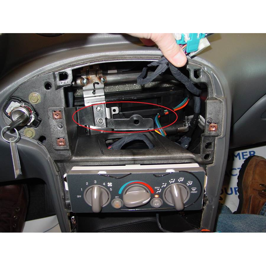 2003 Pontiac Grand Am You'll have to modify your vehicle's sub-dash to install a new car stereo.