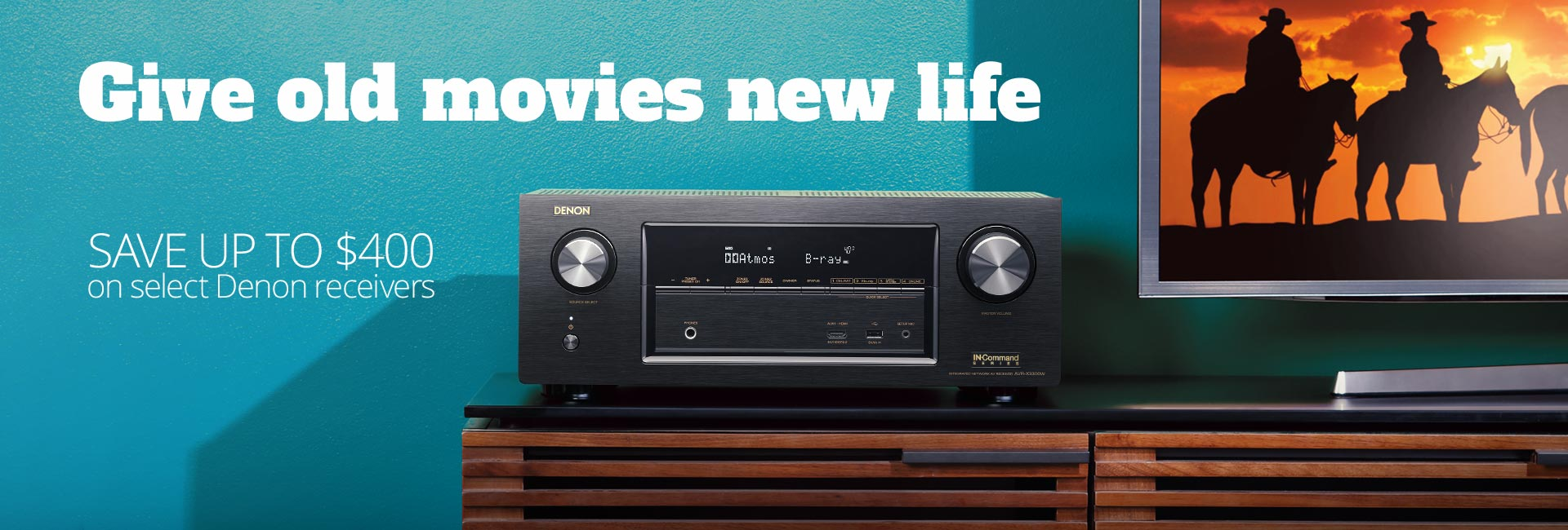 Give old movies new life Save up to $400 on select Denon receivers
