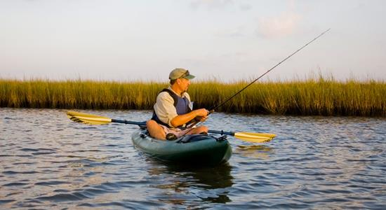 Add a fish finder, lights, and more to your kayak
