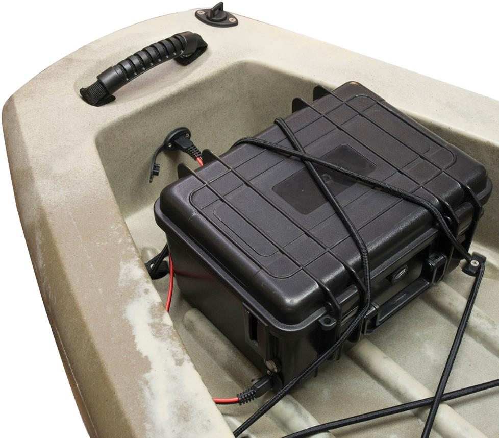 Power pack mount in a kayak