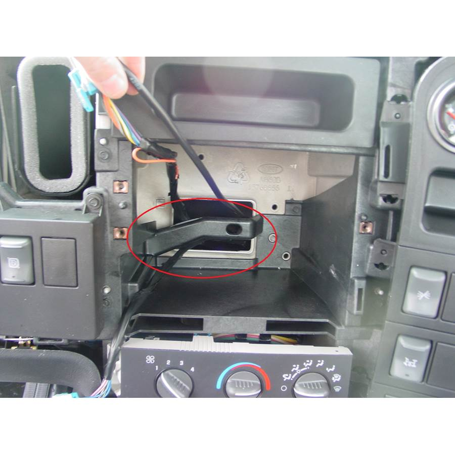 2005 Chevrolet C5500 You'll have to modify your vehicle's sub-dash to install a new car stereo.