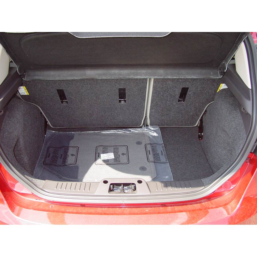 2012 Ford Fiesta Cargo space