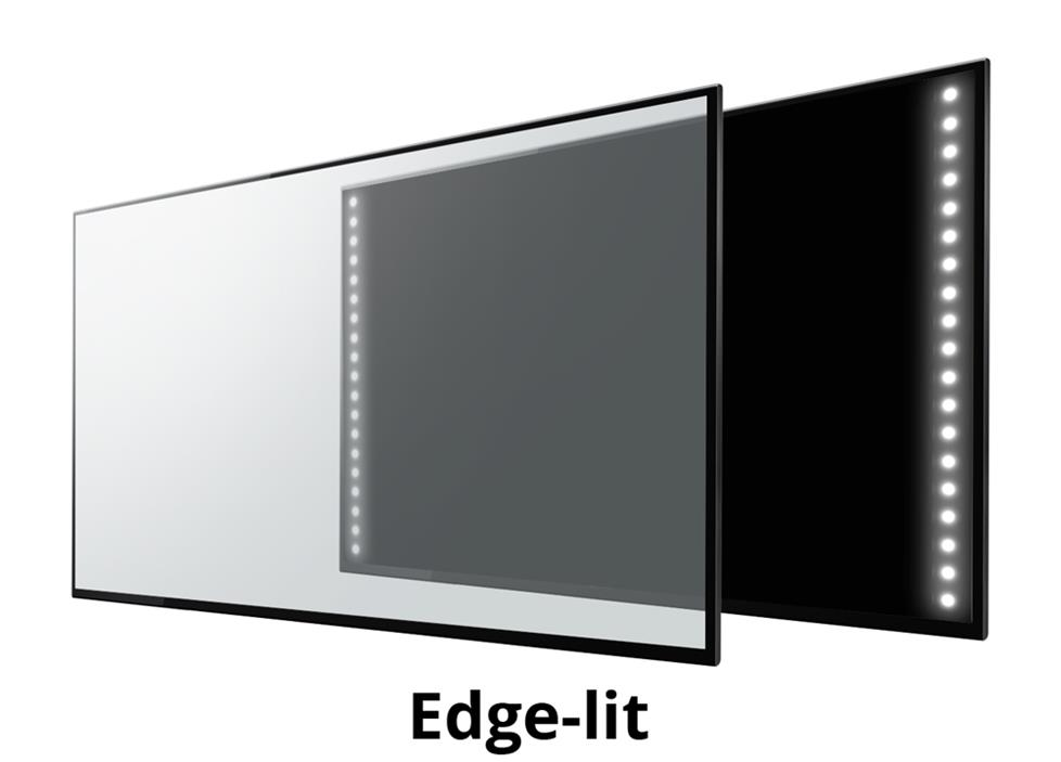 Three types of LED backlighting