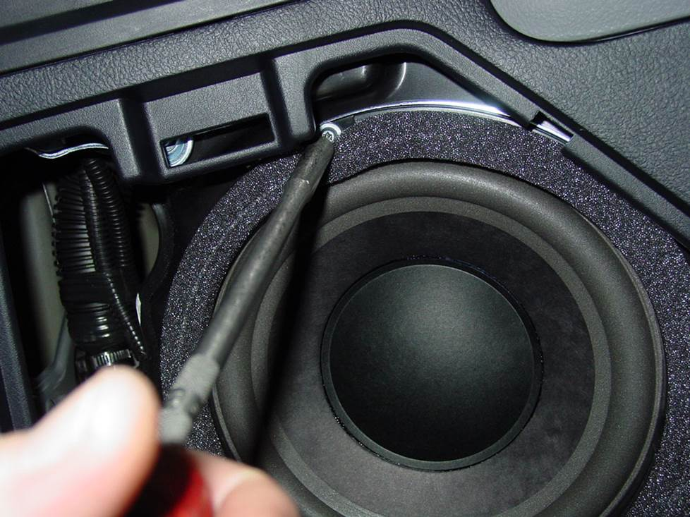 toyota sequoia rear side JBL subwoofer