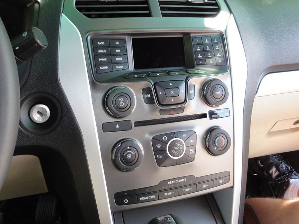 ford explorer base radio