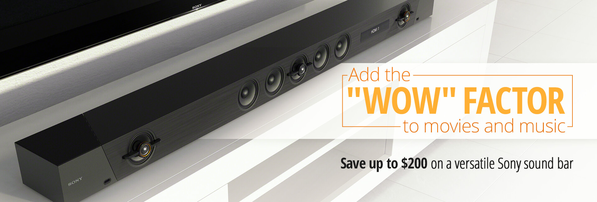 Save up to $200 on a Sony sound bar