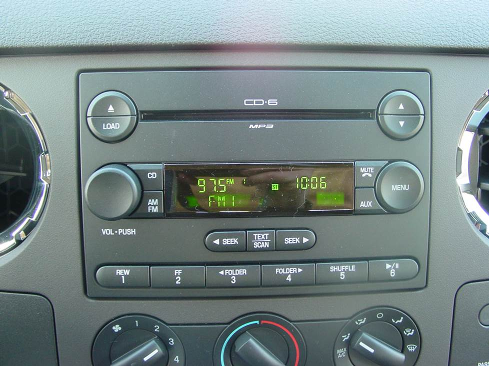 ford f-250 base radio