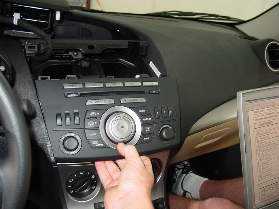 mazda 3 factory radio removal