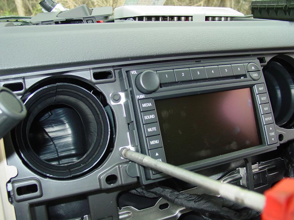 ford f-450 radio removal