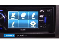 Demo of the JVC KD-AV31 DVD receiver