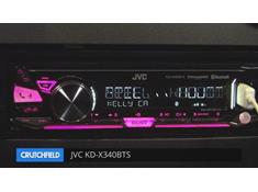 Demo of the JVC KD-X340BTS digital media receiver