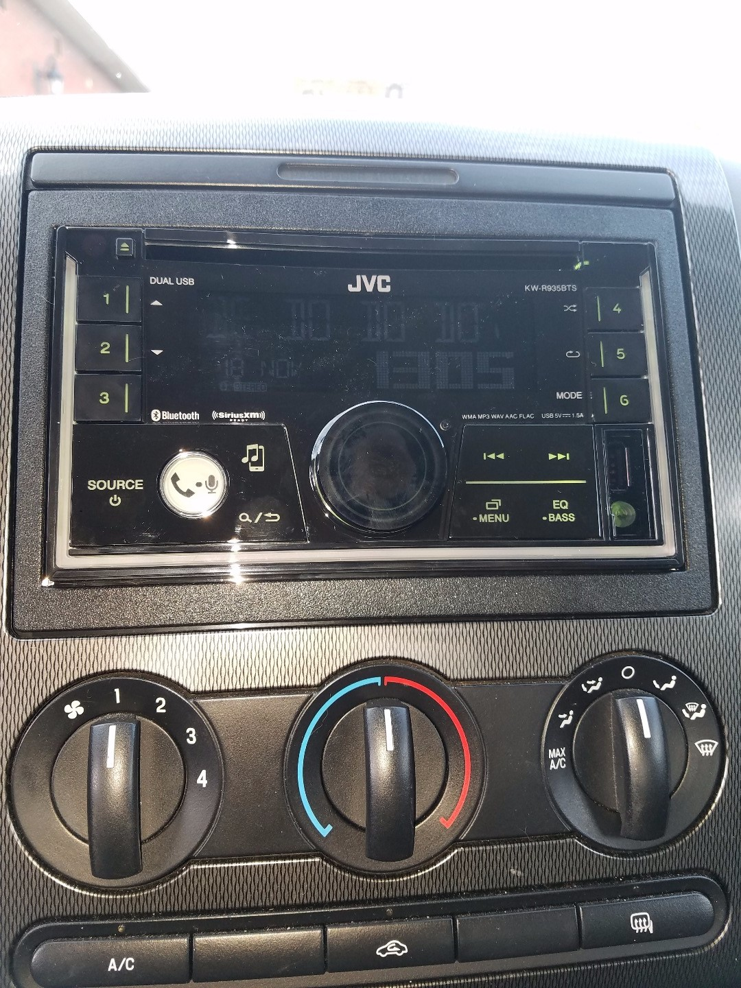 JVC KW-R935BTS CD receiver at Crutchfield
