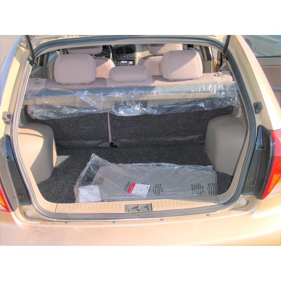 2002 Kia Rio Cinco Cargo space