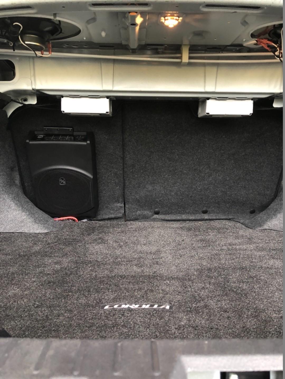 Sound Ordnance B-8PTD 125-watt compact powered subwoofer at
