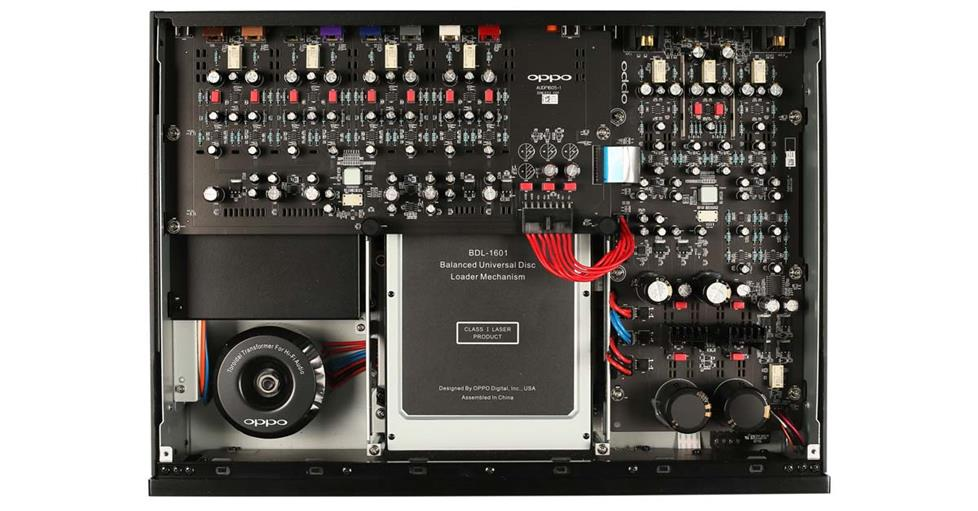 Oppo UDP-205 inside build