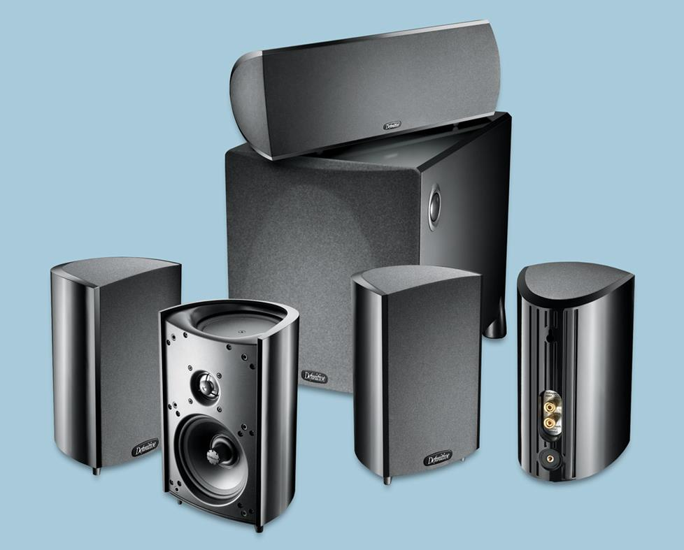 Surround sound speaker system with subwoofer