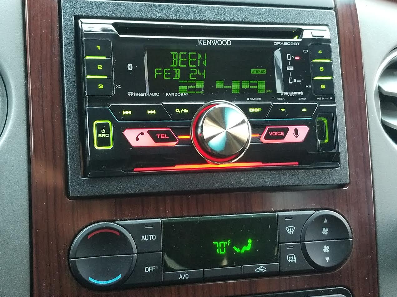 Kenwood DPX502BT CD receiver at Crutchfield