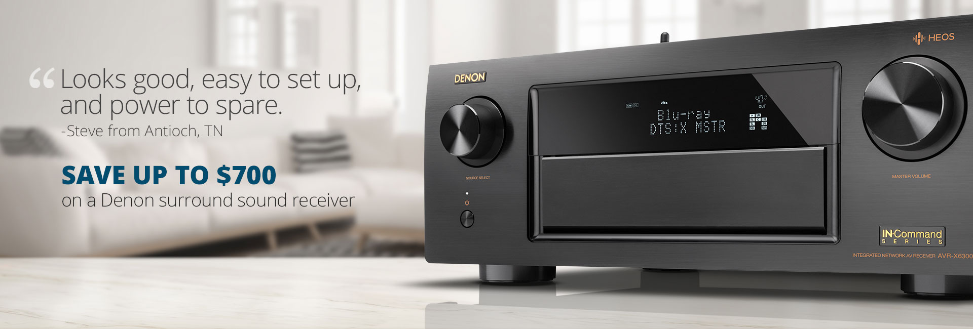 Save up to $700 on a Denon surround sound receiver