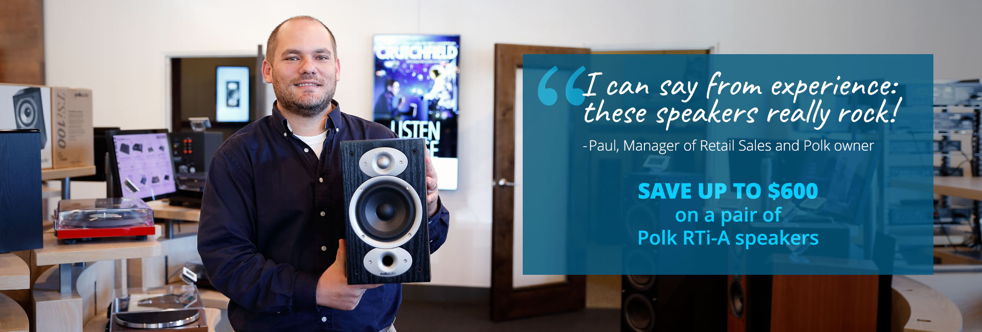 Save up to $600 on a pair of Polk RTi-A speakers