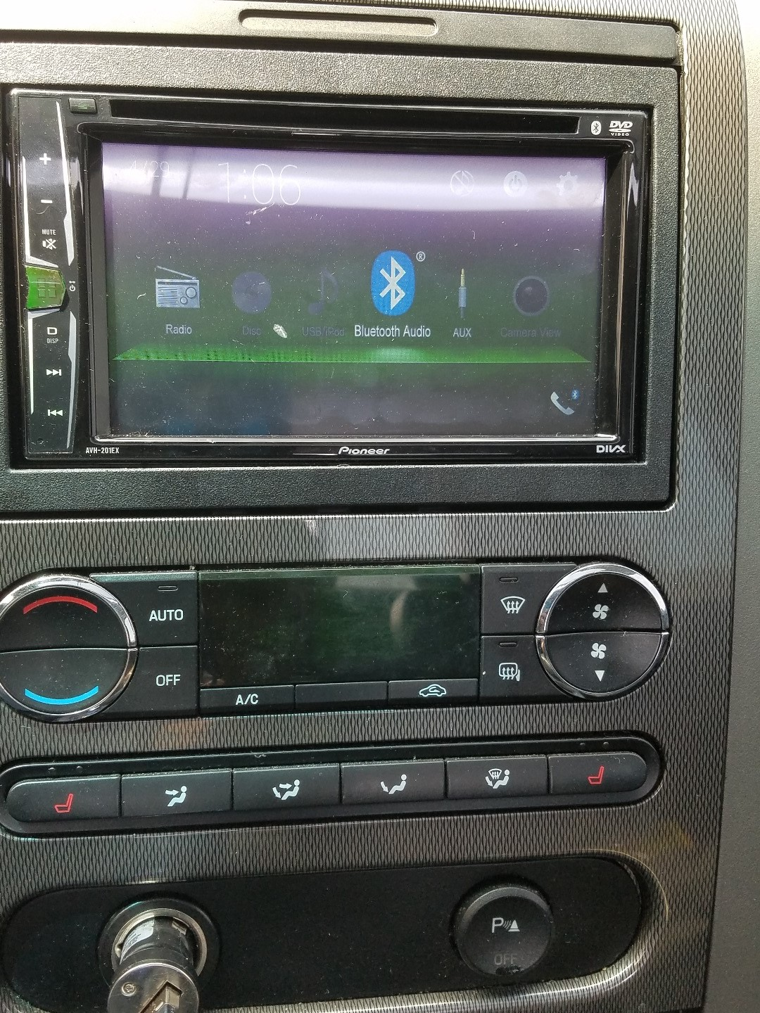 Pioneer AVH-201EX DVD receiver at Crutchfield