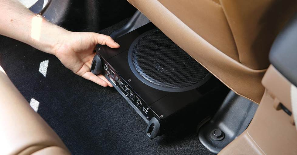 Focal iBus 20 under the front seat