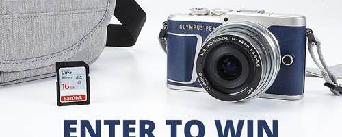 Olympus Limited Edition camera bundle giveaway