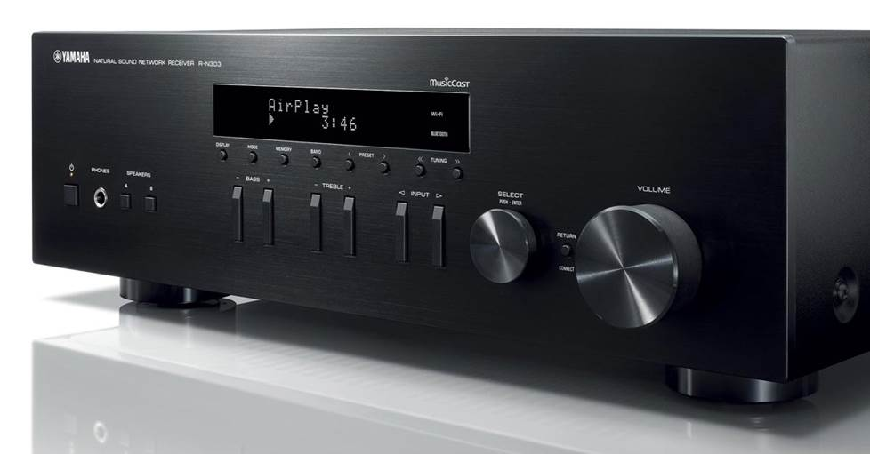Yamaha R-N303 Stereo receiver with Wi-Fi®, Bluetooth®, and MusicCast