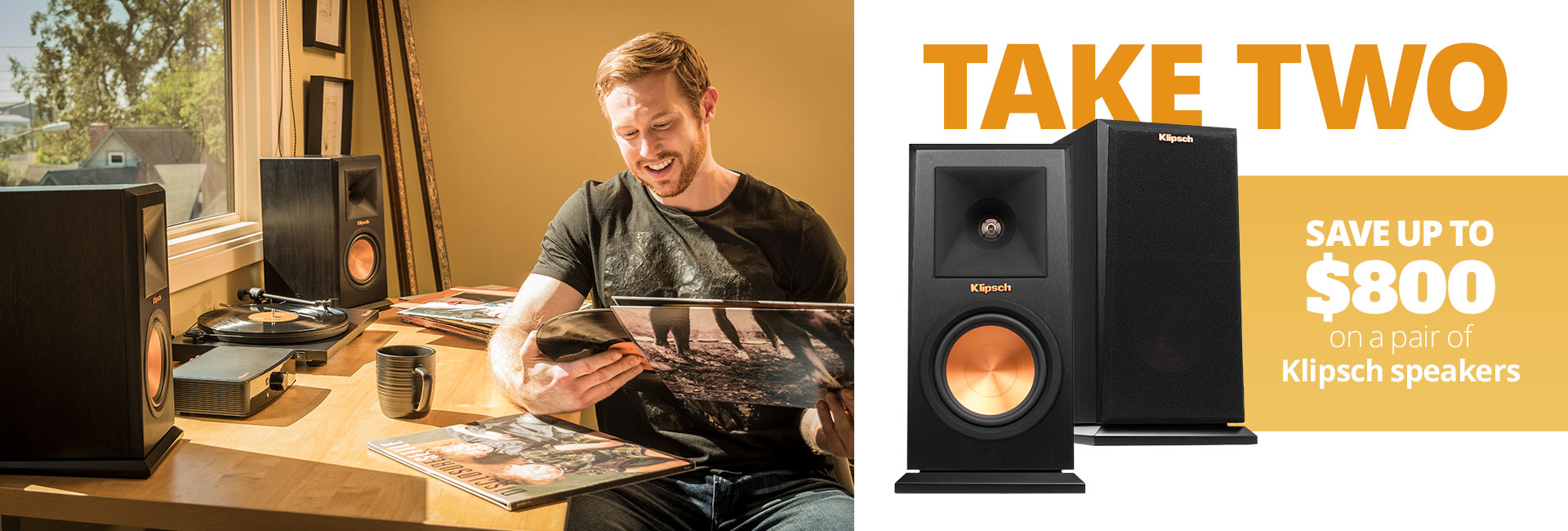 Save up to $800 on a pair of Klipsch speakers