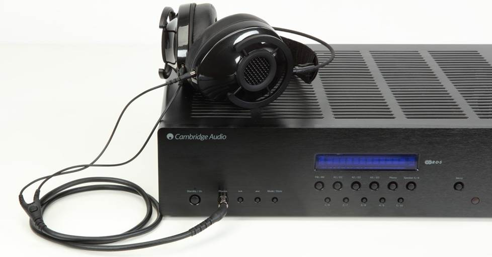 Cambridge Audio SR20 with headphones