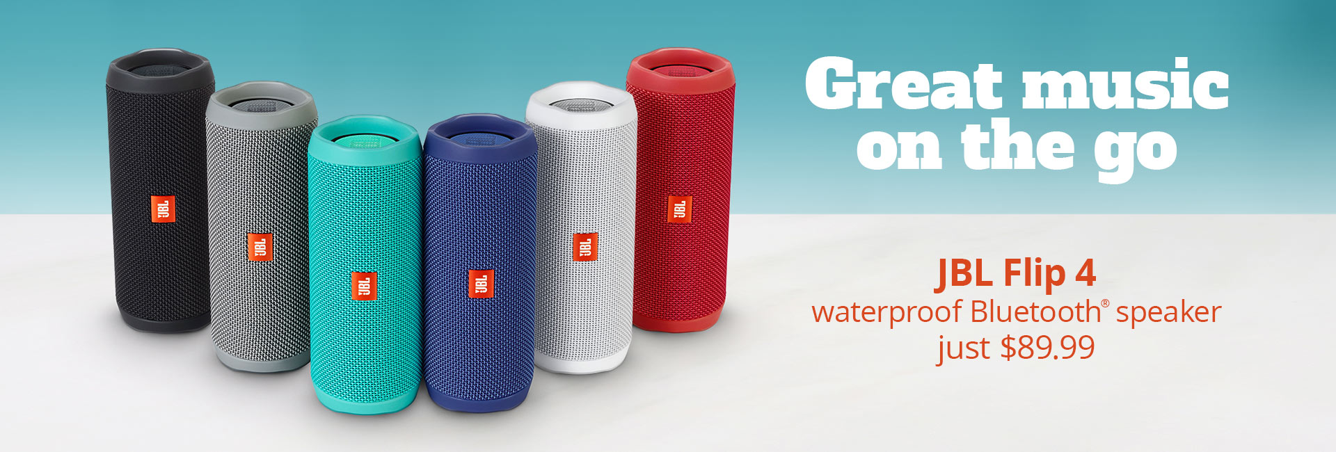 JBL Flip 4 waterproof Bluetooth speaker just $89.99