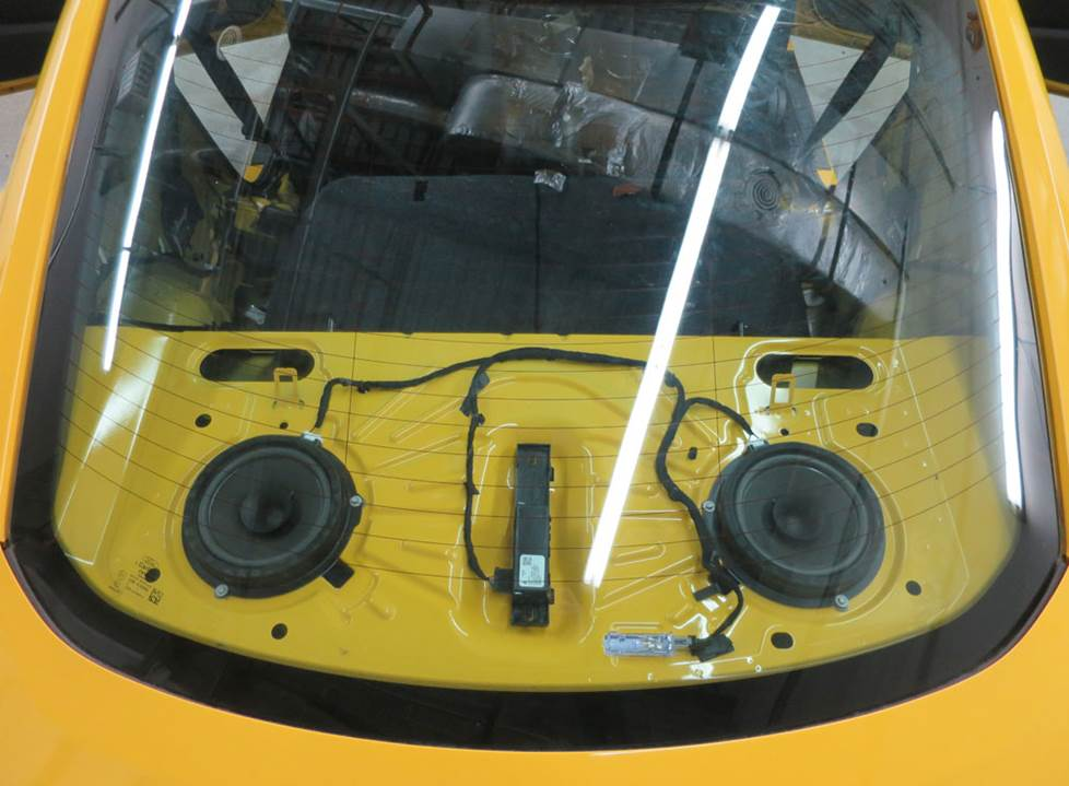 ford mustang rear deck speakers