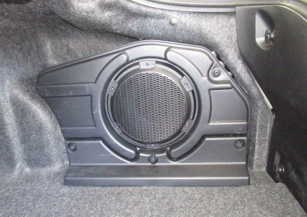 ford mustang factory subwoofer